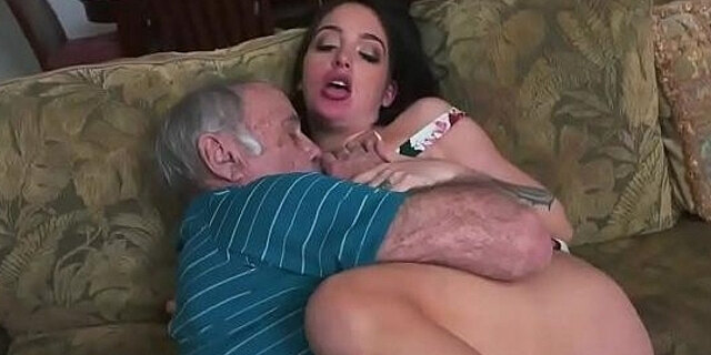 first time,old man,sucking,young,
