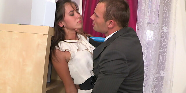 anal,clothed,deepthroat,office,table,young,