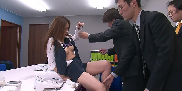 asian,cum,cum in mouth,group,japanese,lingerie,mmf,nylon,office,secretary,table,threesome,toys,upskirt,young,