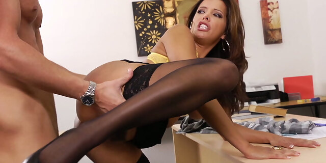 blowjob,brunette,classy,desk,francesca le,fucking,game,hardcore,mature,milf,office,old young,oldy,pornstar,riding,stocking,table,teacher,tits,white,