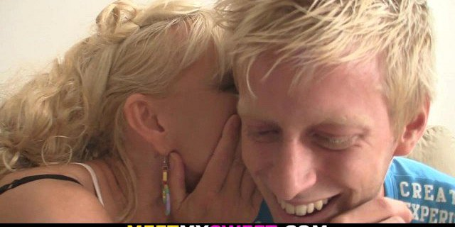 blonde,family,threesome,