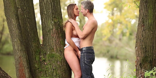 babe,beauty,blowjob,cute,czech,doggystyle,european,forest,licking,naomi bennet,nature,outdoor,pornstar,riding,sensual,shorts,undressing,white,young,
