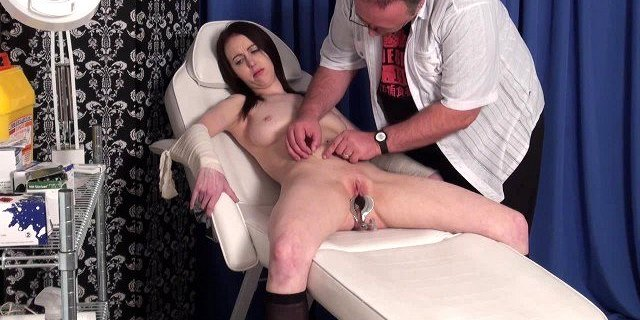 anal fuck,bdsm,doctor,extreme,gagged,glamour,medical,penetrating,punishment,pussy,redhead,screaming,slave,stripping,table,