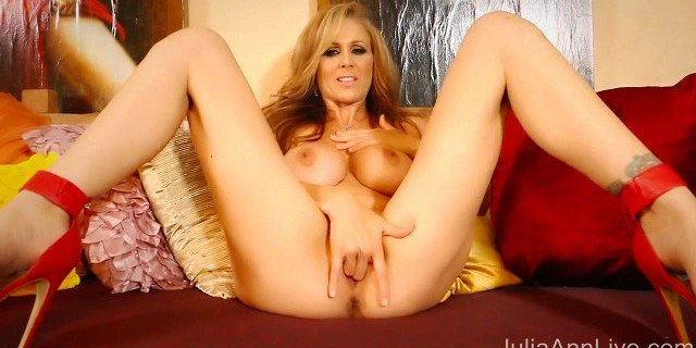 boobs,cougar,heels,high heels,julia ann,lingerie,masturbating,milf,pornstar,tits,