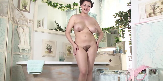 bathing,bathroom,bush,fat,fingering,hairy,lingerie,masturbating,milf,natural tits,shaving,solo,stocking,tits,vintage,white,
