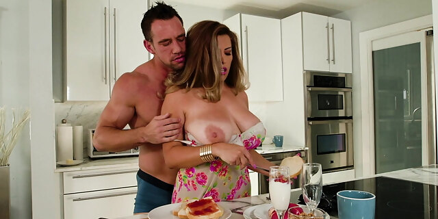 alessandra miller,big ass,blowjob,cum,fucking,johnny castle,kitchen,latina,milf,natural tits,pornstar,riding,shaved,table,tits,