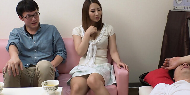blowjob,couch,fucking,husband,japanese,mmf,riding,