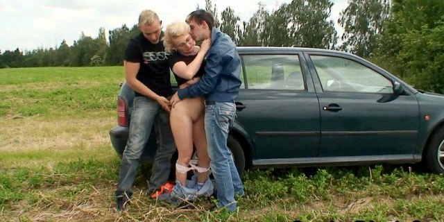 friend,grandma,granny,mature,milf,old young,outdoor,teen,threesome,