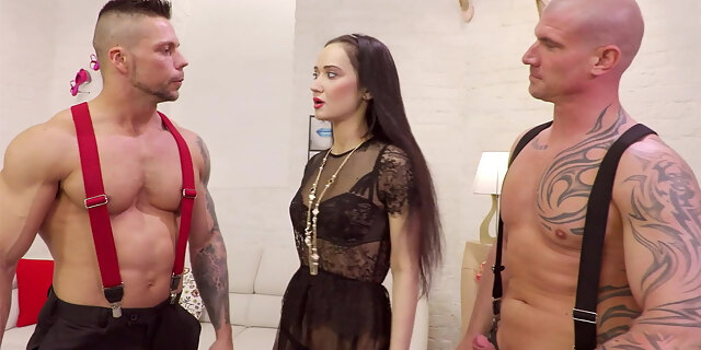 anal,angie moon,ass,ass to mouth,asshole,brunette,brutal,couch,cum in mouth,deepthroat,double penetration,european,fucking,group,hardcore,lingerie,milf,mmf,nylon,pornstar,rough,russian,sex,shaved,stocking,threesome,white,wild,